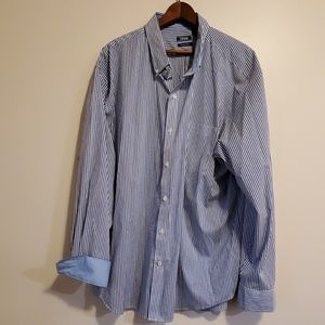 Izod mens striped long sleeved button down